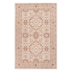Jaipur Rugs - Hand-Tufted Durable Wool Ivory/Red Area Rug (3.6 x 5.6) - The Poeme Collection takes traditional designs and re-invents them in a palette of modern, highly livable colors. Each design is made from premiere hand-spun wool and crafted with precision for the look and feel of a hand-knotted rug, at the more affordable cost of a hand-tufted. Poeme will effortlessly coordinate individual design elements to finish any room.