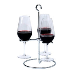 Franmara - Light and Sturdy Stainless Steel Trio Wine Flight Glass Holder - This gorgeous Light and Sturdy Stainless Steel Trio Wine Flight Glass Holder has the finest details and highest quality you will find anywhere! Light and Sturdy Stainless Steel Trio Wine Flight Glass Holder is truly remarkable.