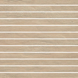 Cottage Collection Beach House 1x12 Mosaic - Cottage is a thru-color collection that replicates the look of natural wood enhanced by a slightly distressed texture.