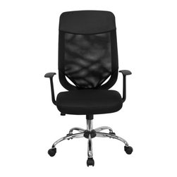Flash Furniture - Flash Furniture Office Chairs Mesh Executive Swivels X-GG-259W-FL - This value priced mesh office task chair will accommodate your essential needs for your home or office. Chair features a breathable mesh back with a comfortably padded mesh fabric seat. Chair is height adjustable to conform to several desk sizes. [LF-W952-GG]