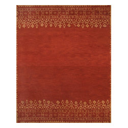 Rugsville - Rugsville  Modern and Stylish Desa Rust Wool 12110 Rug 5x8 - Rugsville fantastic Modern handmade Rug. As with all of our exquisite rugs, this rug is made from 100% wool and is of superb quality. Whether you are re-decorating your living space or aiming for a contemporary look and feel and feel entirely, we know that this superb avant-garde rug is picture perfect for any area.
