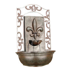 The Bordeaux Wall Fountain, Weathered Bronze - The Bordeaux Wall Fountain is a centerpiece of serenity and beauty of nature for your garden or outdoor space. This fountain brings tranquility and serenity through its flowing sounds and a feeling of being one with nature.