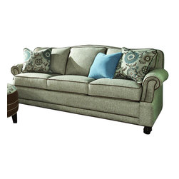 Chelsea Home Furniture - Chelsea Home Cornell Sofa in Golden Shoal Sand with Accent Pillows - Cornell sofa in Golden Shoal Sand with Accent Pillows belongs to the Chelsea Home Furniture collection