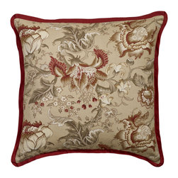 MysticHome - Great Falls - Floral Euro Sham by MysticHome - The Great Falls, by MysticHome