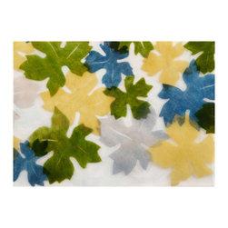 Liora Manne - Liora Manne Leaf Blue Placemats, Set of 4 -