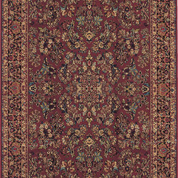 "Karastan - Karastan Original Karastan 700-00785 (Red Sarouk) 8'8"" x 10'6"" Rug - Inspired by prized museum pieces and antiques, the Original Karastan Collection of rugs is recreated from Persian, Turkoman, and other handwoven orientals while maintaining authenticity to the finest detail. Each rug is Axminster woven through-the-back of the finest imported skein-dyed and lustre washed worsted wool yarns. Empress Kirman is part of the Original Karastan collection."