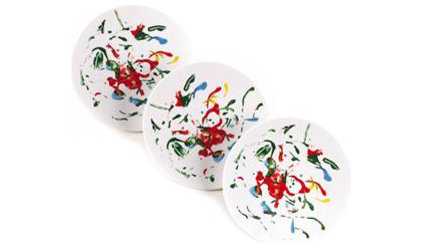 Contemporary Kitchen Products Summer Play Dessert Plates