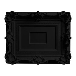"Areaware - Areaware My Brother's Frame Black - Harry Allen - The designer, so smitten by this frame found in his brothers closet, cast it in resin for everyone to enjoy. The image size in the middle of the frame is for a 4"" x 6"" photo."