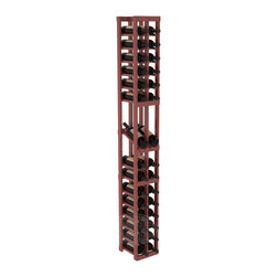 2 Column Display Row Cellar Kit in Pine with Cherry Stain + Satin Finish - Make your best vintage the focal point of your wine cellar. High-reveal display rows create a more intimate setting for avid collectors' wine cellars. Our wine cellar kits are constructed to industry-leading standards. You'll be satisfied. We guarantee it.