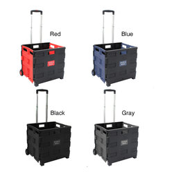 None - Pack and Roll Lightweight Folding Shopping/ Utility Cart - This durable folding shopping cart is perfect for making purchases around markets and stores. It has wheels for easy maneuvering and can hold up to 65 pounds safely. The unit collapses to store conveniently and is available in multiple colors.