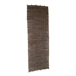 "Master Garden Products - Willow Woven Hurdle Panel, 24""W x 72""H, Set of 2 pieces - These beautiful willow hurdles are hand woven, to a traditional design, has an outdoor life of approximately eight years and needs no added treatment. Can be easily set up by nailing them to the wood post or tied to a metal chain link fence. The woven pattern can be changed according to your taste by placing them vertically or horizontally. These hurdles panels have a variety of uses, from providing attractive windbreakers to dividing areas in your garden. They can be set up and viewed horizontally or vertically. The are very flexible and bendable, which is ideal for irregularly shaped and circular pattern screening. Our willow hurdle panels can bend up to 120 degrees, three 72"" wide panels can be installed in a circle up to 72"" in diameter."