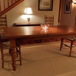 Reclaimed Wood Tables - Reclaimed Wood Tables are classic, family durable tables. These tables can be customized to look sleek or rustic but always are casually elegant. www.lakeandmountainhome.com 978-505-3222