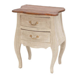 Benzara - Wood Side Table 25in.H, 19in.W Accent Collection - Size: 19 Wide x 14 Depth x 25 High (Inches)
