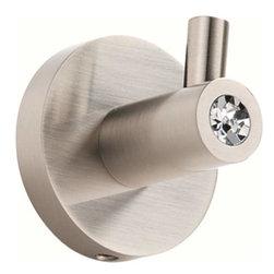 Alno Inc. - Alno Contemporary I Crystal Crystal Robe Hook Satin Nickel C8380-Sn - Alno Contemporary I Crystal Crystal Robe Hook Satin Nickel C8380-Sn