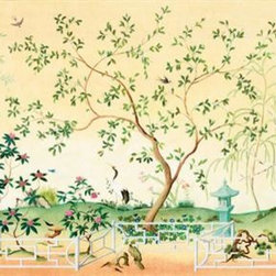 Oriental Garden Mural - Or how about creating a mural wall with a more affordable option like this? It's an instant conversation piece!