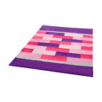 "Blancho Bedding - Onitiva - Purple Mood Soft Coral Fleece Patchwork Throw Blanket  59""-78.7"" - This Coral Fleece Patchwork Throw Blanket measures 59 by 78.7 inches. Comfort, warmth and stylish designs. Whether you are adding the final touch to your bedroom or rec-room these patterns will add a little whimsy to your decor. This Coral Fleece Patchwork throw blanket will make a fun additional to any room and are beautiful draped over a sofa, chair, bottom of your bed and handy to grab and snuggle up in when there is a chill in the air. They are the perfect gift for any occasion! Keep one in your car for staying warm at  outdoor sporting events. Place one on your couch or favorite upholstered chair. Have extras on hand for sleepovers and overnight guests. Machine wash and tumble dry for easy care. Will look and feel as good as new  after multiple washings!"