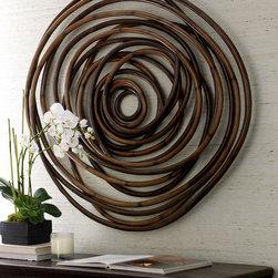 Wood Swirl Wall Decor -