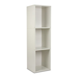 Way Basics - Way Basics Eco 3 Shelf Narrow Bookcase, White - This sleek and modern storage unit will hold all your stuff in style — and is easy on the environment to boot. It's sustainably made from recycled paper and uses paper dowels to hold the pieces together. But fear not, it's water resistant and is super easy to put together. Stash your books, retro vinyl, games and sports equipment in a foyer, bedroom, garage or just about anywhere you need a little organization.