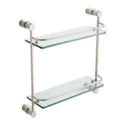 Fresca - Fresca Magnifico 2 Tier Glass Shelf - Chrome, Brushed Nickel - Fresca Magnifico 2 Tier Glass Shelf - Brushed Nickel