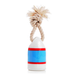 waggo - Floats My Boat Buoy Dog Toy, Blue - Bring a little nautical fun into your pup's life! Our Floats my Boat Buoy Toy is a fun way to play with your furry first mate. Made of durable, non-toxic rubber, this toy floats in water for fun in the ocean, lake or pool. Available in bright colors, there is sure of be a buoy that strikes the fancy of any salty paw!