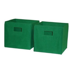 RiverRidge Kids 2 Pc Storage Bins - Green : Target - These canvas bins in Kelly green from Target feature handy cut out handles or rope handles. They even fold flat when not in use!