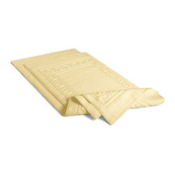 Egyptian Cotton 2 pc Bath Mat by ExceptionalSheets - Complete your bath set with a luxurious bath mat set woven from 100-percent Egyptian cotton.  These mats boast an extra-absorbent fabric with a sturdy, fold-over edging for years of use.  They are 900GSM and each mat is Machine washable!