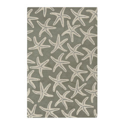 "Surya - Surya Lighthouse LTH-7005 (Slate Blue, Oyster Gray) 3'3"" x 5'3"" Rug - This Hand Tufted rug would make a great addition to any room in the house. The plush feel and durability of this rug will make it a must for your home. Free Shipping - Quick Delivery - Satisfaction Guaranteed"