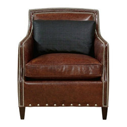 """Emerson Bentley - Tacoma Leather Chair - Overall Dimensions: Height: 37 1/2"""" Width: 32"""" Depth: 35 1/2"""""""