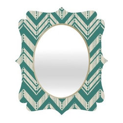 Deny Designs Heather Dutton Weathered Chevron Quatrefoil Mirror - You're a modern beauty and so is the Deny Designs Heather Dutton Weathered Chevron Quatrefoil Mirror, which makes you a match made in heaven. This mirror is a sleek mix of engineered wood trim and glossy aluminum frame with fresh color distressed to perfection. It's an original design from artist Heather Dutton and comes in great size options so it's easy to find your perfect fit.About DENY DesignsDenver, Colorado based DENY Designs is a modern home furnishings company that believes in doing things differently. DENY encourages customers to make a personal statement with personal images or by selecting from the extensive gallery. The coolest part is that each purchase gives the super talented artists part of the proceeds. That allows DENY to support art communities all over the world while also spreading the creative love! Each DENY piece is custom created as it's ordered, instead of being held in a warehouse. A dye printing process is used to ensure colorfastness and durability that make these true heirloom pieces. From custom furniture pieces to textiles, everything made is unique and distinctively DENY.