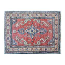 1800GetARug - Oriental Rug Red Kazak Hand Knotted Rug Tribal Design Sh9451 - About Tribal & Geometric