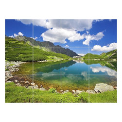 Picture-Tiles, LLC - Lake River Photo Kitchen Bathroom Tile Mural  18 x 24 - * Lake River Photo Kitchen Bathroom Tile Mural 1668