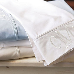 PB Classic 400-Thread-Count Sheet Set - These feature a classic monogram. We love this set for someone who adores monograms but isn't sure about going bold.Sets range from $129 to $179.