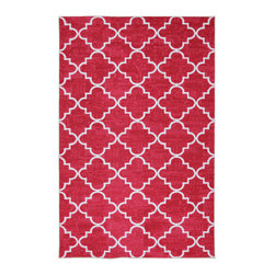 Mohawk Home - Fancy Trellis Hot Pink Rug (8' x 10') - Simple pattern combines with bold color in this lattice print rug. The bright pink color adds personality to your decor. This machine uses many colors to create a wonderfully designed,durable and vibrant rug that is applicable to any room.