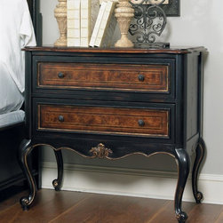 Hooker Furniture - 36 in. Leg Nightstand - Traditional style. Two drawers. Made from wood. 36.75 in. W x 19 in. D x 34 in. H