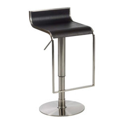 Eurostyle - Eurostyle Forest Bar/ Counter Stool in Wenge & Satin Nickel - Bar/ Counter Stool in Wenge & Satin Nickel belongs to Forest Collection by Eurostyle There are some rooms that demand the look and feel of leather and wood. They are usually the same rooms that demand outstanding build quality and the elegance of a satin nickel frame. Last call for excellent taste. Bar/ Counter Stool (1)