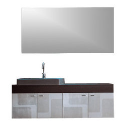 Iotti - 55 Inch Bathroom Vanity Set - An arresting appearance and generous space give this Italian made vanity set first place in your consideration for your master bath.