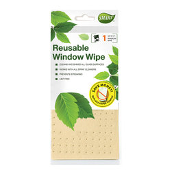 Reusable Window Wipe 1pc - Perforated design and special shammy coating works like a squeegee to wipe away dirt & smudges with ease. Works with or without cleaners to provide streak-free and lint-free shine.