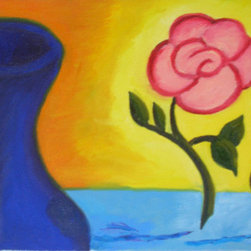"""""""Escaping the Vase""""  (Original) by Cyndi Gonzalez - I was inspired by the thought, What if my roses don't like being trapped in a vase?"""