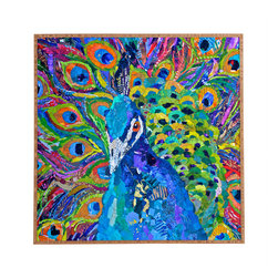 Elizabeth St Hilaire Nelson Cacophony Of Color Framed Wall Art - Bamboo frame with high gloss print