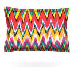 "Kess InHouse - Aimee St. Hill ""Painted Chevron"" Pillow Sham (Cotton, 40"" x 20"") - Pairing your already chic duvet cover with playful pillow shams is the perfect way to tie your bedroom together. There are endless possibilities to feed your artistic palette with these imaginative pillow shams. It will looks so elegant you won't want ruin the masterpiece you have created when you go to bed. Not only are these pillow shams nice to look at they are also made from a high quality cotton blend. They are so soft that they will elevate your sleep up to level that is beyond Cloud 9. We always print our goods with the highest quality printing process in order to maintain the integrity of the art that you are adeptly displaying. This means that you won't have to worry about your art fading or your sham loosing it's freshness."