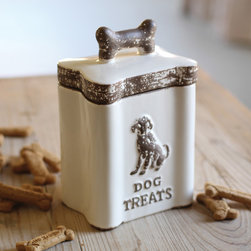 Throw Him a Bone - Your pup deserves his nightly treat. So make him even more excited when you store those goodies in a special cookie jar.