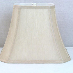Crown Lighting - Crown Lighting Cream Rectangular Lamp Shade - Beautify an old lamp and dress up your space with this cream rectangular lamp shade. Made of beautifully soft cream silk that will add a bit of glamor to a simple lamp base,this gorgeous shade will cast warm,soft light about your room.