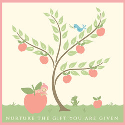 Murals Your Way - Nurture Apple - Girl Wall Art - Painted by Sheri McCulley, the Nurture Apple - Girl wall mural from Murals Your Way will add a distinctive touch to any room
