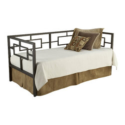 Hillsdale Furniture - Hillsdale Chloe Daybed - Inspired by the symmetry of Asian influenced designs, Hillsdale Furniture's Chloe daybed is defined by its straight lines, bronze finish and perfect squared angles. Composed of heavy gauge tubular steel.