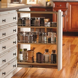 Getting Organized with Fieldstone Cabinetry - Spice Rack Pull Out