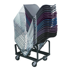 National Public Seating - National Public Seating Dolly for 8500 Chair Transport Storage Accessories - Clear or set up an entire conference room or lecture hall in just minutes with the National Public Seating Dolly for 8500 Chair. Stack up to 40 National Public Seating 8500 chairs. Easily maneuver the steel chair dolly from classroom to classroom on the two swivel and two non-swivel casters.