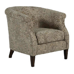 A.R.T. - A.R.T. Cotswold Amanda Toffee Upholstered Accent Chair - The Cotswold Collection exemplifies gracious living through the generous scale of its palatial beds and impressive occasional pieces. Rich custom fabrics, top grain hand-rubbed leather, shapely serpentine fronts and elegant motifs convey luxury. Built from a strong hardwood frame and featuring rustic pine legs, these dining chairs are built to last for years to come.