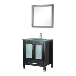 Adornus - Adornus AMARA-24-E-G Espresso Vanity - * Floor standing all Wood Vanity.