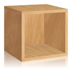 Way Basics - Way Basics Storage Cube, Cedar - Think inside the box! Create more space in close quarters with stackable modular storage cubes. Simple no-tool construction — just peel and stick — means you can build 'em in nothing flat. They're durable, versatile and formaldehyde- and VOC-free.