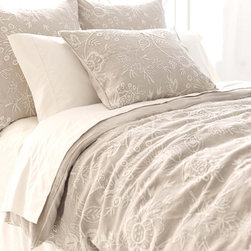 Pine Cone Hill - manor house floral duvet cover - Soothing neutrals and soft, subtle textures create a tranquil aesthetic for our beach house collection. Classic decorative pillows, cotton bed sheets, plush duvet covers and more are the foundation for your casual chic cottage.